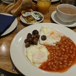 English breakfast without meat