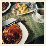 try their banana pancakes for breakfast! they're delish!