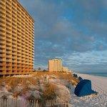 View of the Pelican Beach Resort in Destin, Florida