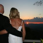                    A perfect sunset on our wedding!
