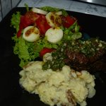 Chimichurri Beef Tenderloin with mashed potatoes