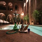 Hookah and Morrocan Mint tea with heated pool!
