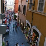  View from our Room that leades to the Trevi fountain