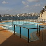 Fortina open pool on edge of Sliema inlet