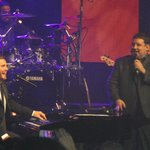 Gary Barlow with Peter Kay