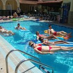 Inflatables provided in pool area