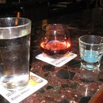 Fun drinks, wine tonight got to try the blue one