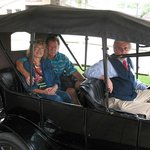 This visit wouldn't have been complete without a ride in a Model T!