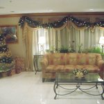 Lobby decorated for Christmas 2012