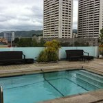 Roof deck pool. Dont expect too much.