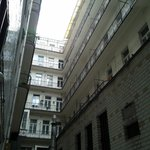 A view of the interior courtyard. The apartment is on the top floor & the wind