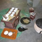 Coffee ceremony set up
