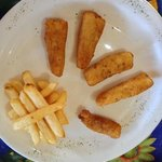  kids menu: 11 fries, 69 pesos. Hurts.