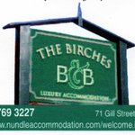 Birches B&B - Sign