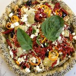 Mike's Big Fat Greek Pasta Pizza