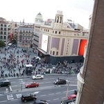  balcony view overlooking plaza de Callao