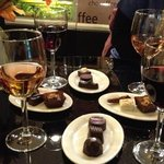 wine and chocs- great !!