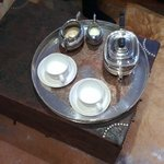 Morning tea on a silver tray