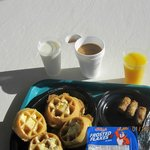 The breakfast of champions from the rooftop...