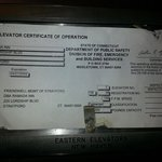                    elevator cert