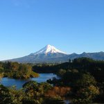 Mt Taranaki from Lake Mangamohoe