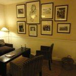 The lounge with pictures of Charles Lindbergh