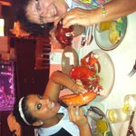 Mom and sharing a big boy Lobster.