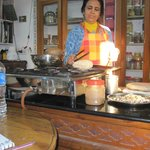 Sushama cooking chapati