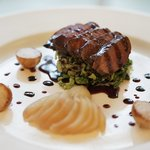  Classic Venison with poached pear
