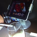The menu on an iPad - you can order directly on it!