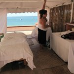 Massage room with view to the sea