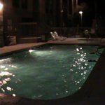 Warm pool at night