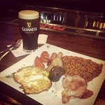 Irish breakfast and a Guinness
