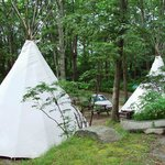 Authentic Sioux tipis at Sippewissett Cabins & Campground