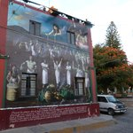                    mural at plaza nearby