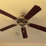  Ceiling fan in a hotel!