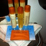 great smelling orange toiletries!