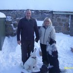                    My pic of the owners Steve and Dianne