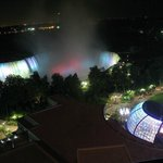                    Horseshoe Falls by night!! (from the room!)