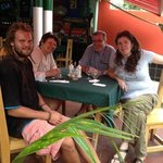 Meeting new friends in Guanabo. Great pizza!