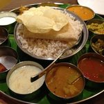 a thali plate at the Ruby Arenas Opal restaurant