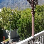 The balcony with Table Mountain view