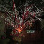                                                        Glass festooned tree in lobby