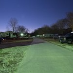 The RV park after dark on a clear Texas night