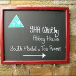 YHA Whitby sign