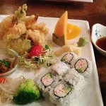 Shrimp & Veggie Tempura w/California Roll