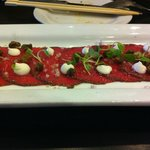                    peppered beef carpaccio