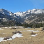 A view of Moraine Park, inside Rocky Mountain National Park, several miles from the Crags Lodge.