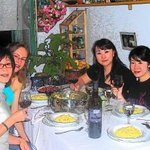  Dinner at home with japanese guests. Book in advance at euro 35 per person