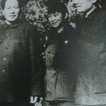 Chairman Mao with his son and daughter-in-law